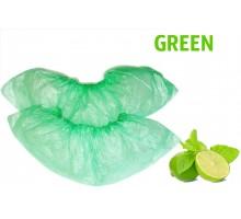 Бахіли одноразові 100 шт / уп, 3,5 г зелені поліетиленові