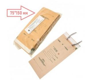 Пакети для сухожар 75*150 мм (100 шт) з індикатором з крафт-паперу