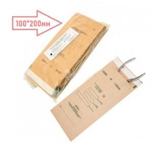 Пакети для сухожар 100*200 мм (100 шт) з індикатором з крафт-паперу