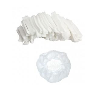 Шапочка одноразова (100 шт / уп) біла неткана (спанбонд) на гумці Polix PRO & MED ™