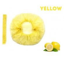Шапочка одноразова (100 шт / уп) жовта неткана (спанбонд) на подвійний гумці Polix PRO & MED ™