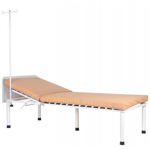 Ліжко медичне Пульс зі штативом, білий беж